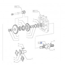Linka gazu ręcznego 205mm Massey Ferguson 3080, 3090 3610, 3630, 3650, 3670, 3680, 3690 3581879M2