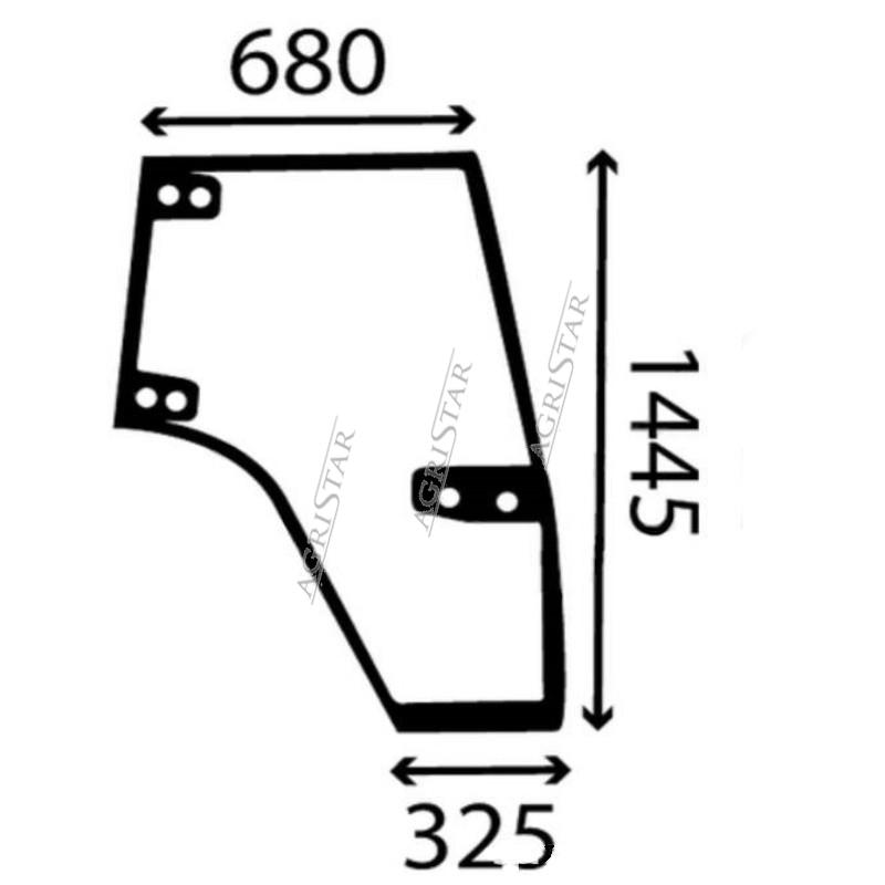 Szyba przednia czołowa Case Magnum 123387A1 96594C3