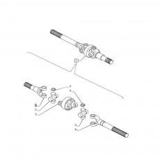 półoś Steyr CVT 6185 6210 6215  Case Magnum 235 260 Puma 180 195 New Holland T7.235 T7.250 T7040 T7050 T8.275 T8.300 84189307