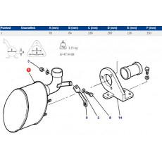 Linka zmiany biegów rozdzielacza HI-LOW New Holland: T5090, T5100 T5.115 TS100, TS110, TS115, TS90 82015807, 82012744