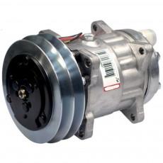 Sprężarka kompresor klimatyzacji typ Sanden SD7H15 Deutz Fahr Agrofarm Agrotron Hurlimann Same Explorer Iron Silver