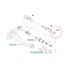Tulej podpory przedniego mostu Deutz Fahr 2.1559.092.0 215590920