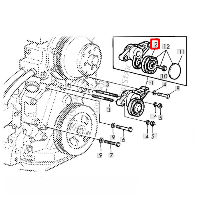 Oring tłoka hamulcowego Case mc cormick magnum farmall 238-5278 70926182