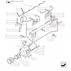Reduktor ciśnienia paliwa zawór Case CVX140 150 160 175 195 New Holland T7510 T7520 T7530 T7540 T7550 162000090810 837069409