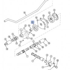 Wentylator silnika Massey Ferguson 6485 6490 6495 6497 6499 7485 7490 7495 7497 7499 Valtra N113 N123 N143 N163 T132 T133 T152 T