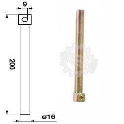 JH02-Z11366 Palec ślimaka 16x200mm