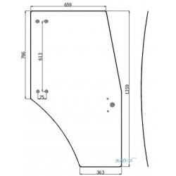 AKK2227 Szyba drzwiowa lewa/prawa