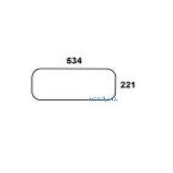 AKK2623 Szyba tylna dolna przezroczysta