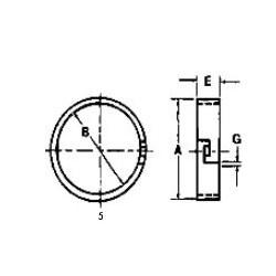 SKR7004 Pierścień zapinany skrzyni pośreniej