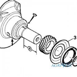 PON1802 Pierścień uszczelniający zawieszenia przedniej osi