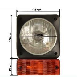 Lampa drogowa przednia H4 JCB Manitou John Deere  JCB Manitou John Deere  Terex/Fermec  Case 580k 580sk 580sle