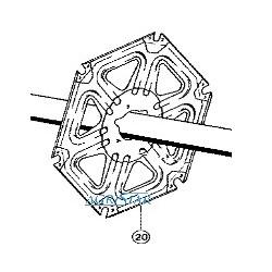 CH04-677318 Gwiazda motowidła wewnętrzna
