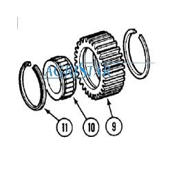 PON4820 Pierścień zabezpieczający satelity 54,40x59,60x2,95mm