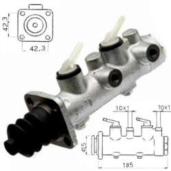 HAM4033 Pompka hamulcowa bez wspomagania układu hamulcowego Merlo 25-7, 27-7, 30-7, P28-7EVS, P28-9 014652K, M014652K