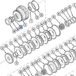 Pierścień O-ring zębatki 2-go biegu Case 238-5324 352004R1 A175513