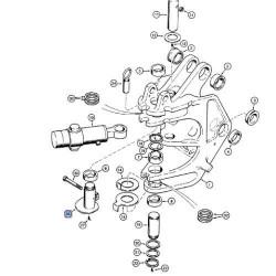 Sworzeń dolny-obrót wysięgnika koparkowego 580SLE 590SLE 580SM 580M 580SK 580K 580LE 580LPS E48847 D142398  D138488