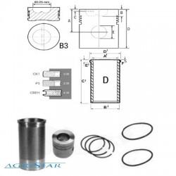 SCY1027 Zestaw naprawczy silnika 105mm