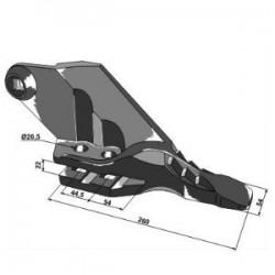 łącznik widełki krzyżaków półosi Case 580K, 580SK, 580SLE 580SM 590sle New Holland lb110 NH75, NH85, NH95 555 655 terex 860