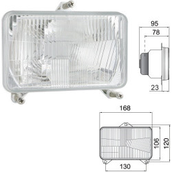 ELE1043 Lampa przednia P/L 130x120mm