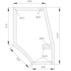 AKK2209 Szyba drzwi Case 5000 L