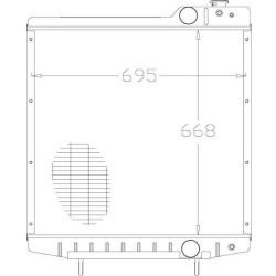 Pompa wodna Case/IH CS 120, CS 130, CS 150 Valmet: 6900, 8000, 8050, 8100, 8150, 8200, 8400