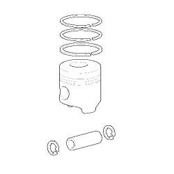 SCY3033 Tłok kpl. 3 pierścienie