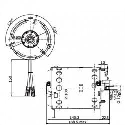 CA04- 631180 Tulejka 20x23x40mm