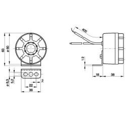 HAM5401 Złączka pneumatyczna czerwona M16x1,5