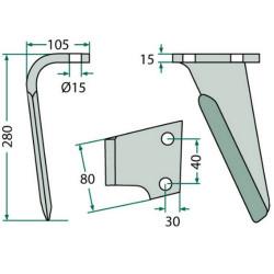 KV-489808 Koło zębate ustalające