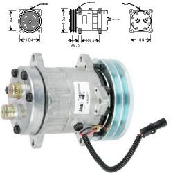 Sprężarka klimatyzacji kompresor Sanden 194121A1 1999755C2 1999755C3 86993462 SD7H15-4609 Case 5140 5150 5250 7130 7140