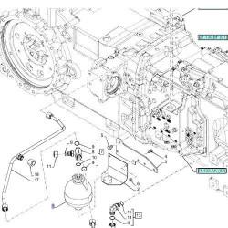 Hydroakumulator Akumulator hydrauliczny półbiegów skrzyni New Holland TS TL T5 T6 T7 Case Maxxum Puma CVX MXU JXU 5195043 873141