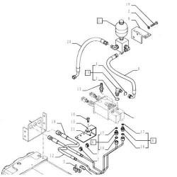 Hydroakumulator Akumulator hydrauliczny półbiegów skrzyni Hydac 5195043 87314179