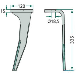 HAM1829 Oring cylindra hamulcowego