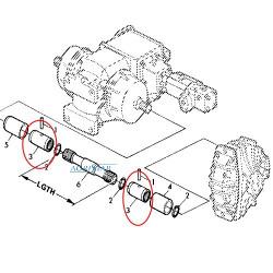 HYD2552 Zestaw uszczelnień siłownika 32/63,5mm