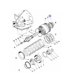 SKR7046 Pierścień zabezpieczający  kosza Case 580C, 580G, 580F, 580K, 480D, 480F, 480F LL, 480C 680E, 680CK D50049