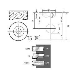 SPR5097 Wieniec koła zamachowego Z 133 Szerokość 12mm