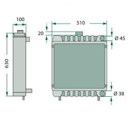 Chłodnica oleju silnika wymiennik ciepła Case MX100, MX110, MX120, MX135, MX150, MX170 5130, 5140, 5150, 5230, 5240, 5250 1644,