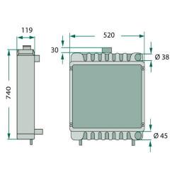 SUC1036 Chłodnica wody