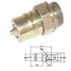 HYD5007 Szybkozłącze wtyczka grzybkowe M16x1,5 zew.